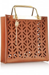 SOPHIE HULME Square perforated leather tote