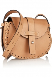 MICHAEL KORS Claire whipstitched leather shoulder bag