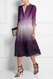 BURBERRY PRORSUM Dégradé silk-crepe dress