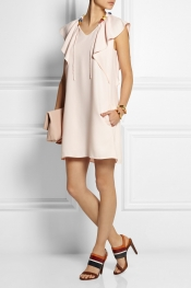 CHLOÉ Mini-robe en cady à volants