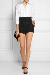 DOLCE & GABBANA Embroidered jacquard shorts