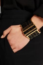 ALEXANDER MCQUEEN Gold-plated Swarovski crystal cuff