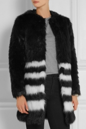 MICHAEL MICHAEL KORS Striped faux fur coat