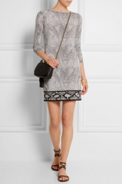 MICHAEL MICHAEL KORS Snake-print stretch-jersey mini dress