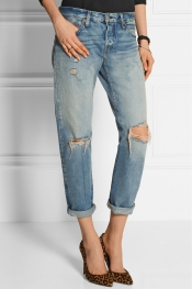 LEVI'S 501 CT JEANS 501 CT distressed mid-rise straight-leg jeans