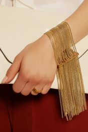 CHLOÉ Delfine gold-tone bracelet