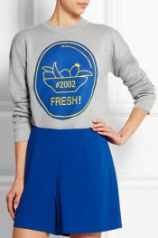 OPENING CEREMONY Fresh intarsia merino wool-blend sweater