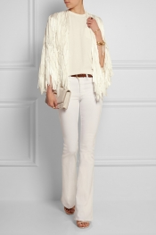 TIM RYAN Metallic fringed knitted jacket