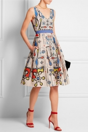PETER PILOTTO Circle printed cloqué dress