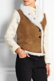 JOSEPH Lucy shearling vest