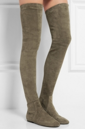 ISABEL MARANT Étoile Brenna stretch-suede over-the-knee boots