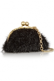 BOUTIQUE MOSCHINO Tinsel-covered satin shoulder bag