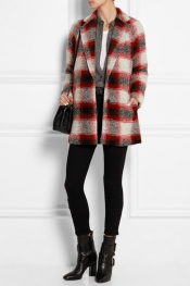 MADEWELL Plaid wool-blend coat