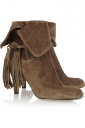 CHLOÉ Tassel-trimmed suede ankle boots