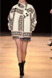 ISABEL MARANT Dillon oversized wool-blend coat