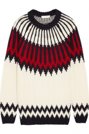 CHLOÉ Snow Capsule intarsia wool sweater