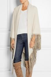BARBAJADA Fringed cashmere scarf