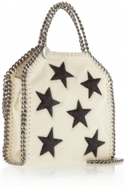 STELLA MCCARTNEY Sac porté épaule en cuir synthétique à finitions pailletées The Falabella