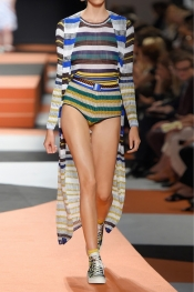 MISSONI Striped crochet-knit shorts
