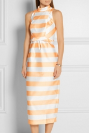 PAPER LONDON Sirocco striped gazar dress