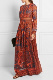 VALENTINO Printed cotton gown