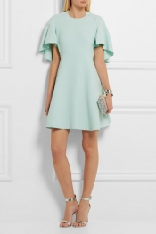GIAMBATTISTA VALLI Satin-trimmed crepe mini dress