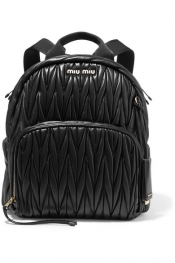 MIU MIU Matelassé leather backpack