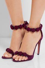 ALAÏA Sandales en daim cloutées