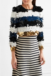 SONIA RYKIEL Cropped sequined wool sweater