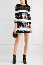 SONIA RYKIEL Sequined wool-jersey mini dress
