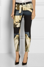 ACNE Skin 5 Pocket printed mid-rise skinny jeans