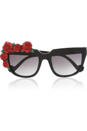 ANNA-KARIN KARLSSON Rose Rouge cat eye acetate sunglasses