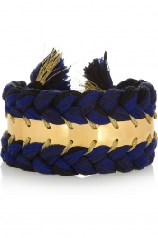 AURÉLIE BIDERMANN Copacabana gold-plated and cotton cuff