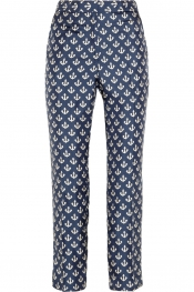BY MALENE BIRGER Gertrudi anchor-print silk-twill pants
