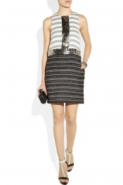 BY MALENE BIRGER Rasminel embellished striped tweed dress
