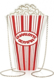 CHARLOTTE OLYMPIA Movie Night embroidered leather shoulder bag