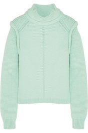 CHLOÉ Wool, silk and cashmere-blend sweater