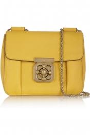 CHLOÉ Elsie small textured-leather shoulder bag