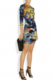 CHRISTOPHER KANE Printed stretch-jersey dress