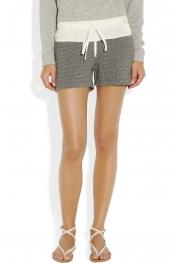 CLU Drawstring cotton-blend terry shorts