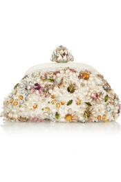 DOLCE & GABBANA Dea small embellished lace clutch