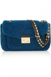 FENDI B Baguette Mini shearling bag