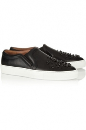 GIVENCHY Crystal-embellished leather sneakers