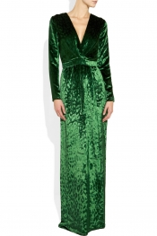 La robe en velour jade Gucci