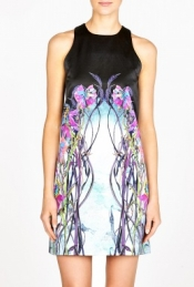 HERMIONE DE PAULA BLACK HOLE JURASSIC SURYA SHIFT DRESS