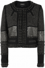 ISABEL MARANT Kazia lacquered cotton-knit jacket