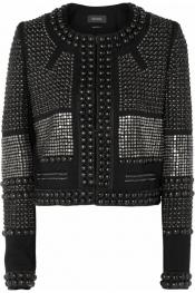 ISABEL MARANT Kazia lacquered cotton-knit jacket