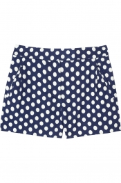 J.CREW Nofolk polka-dot linen and cotton-blend shorts
