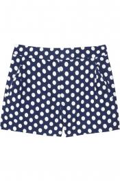 J.CREW Nofolk polka-dot linen and cotton-blend shorts