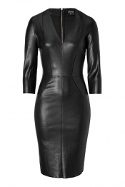 JITROIS Leather Dress in Black